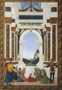 Pietro Perugino, San Bernardino risana una fanciulla