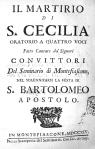1714. Il martirio di s. Cecilia